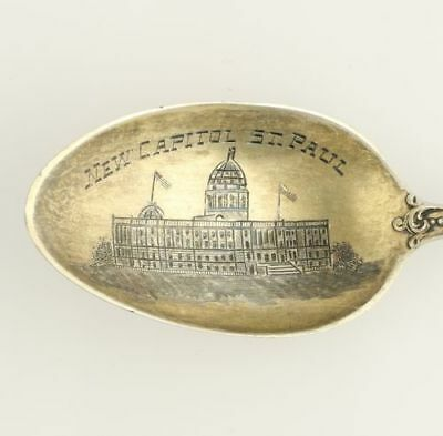St Paul Minnesota Souvenir Spoon - Sterling Silver Collectors New State Capital