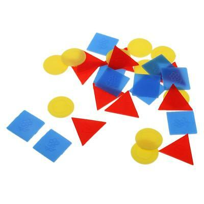 30Pcs Round Square Triangle Geometric Shapes Figure for Kids Educational Toy