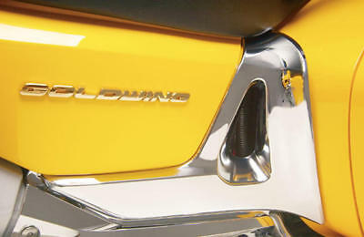 Show Chrome Battery Side Covers Trim Fits Honda GL1800 Gold Wing 2001-2010