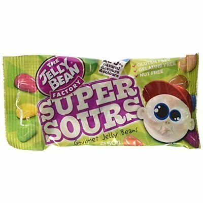 The Jelly Bean Factory Bag of Super Sour Jelly Beans 50 g (Pack of 12)