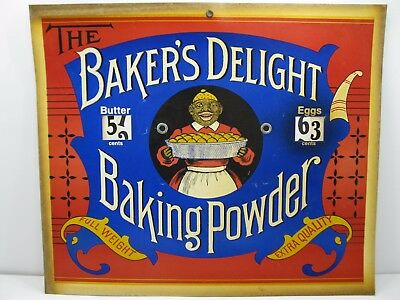 Baker's Delight Baking Powder Store Sign Advertising Dial Prices