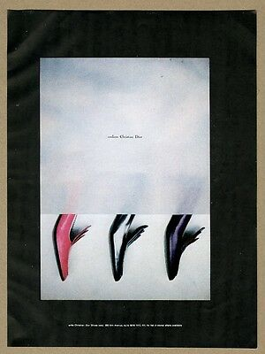 1967 Christian Dior women's shoes red black purple photo vintage print ad