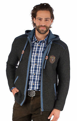 Spieth Wensky Traditional Jacket Cardigan Dark Grey Blue