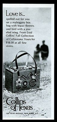 1969 Enid Collins mahogany Love box purse handbag photo vintage print ad