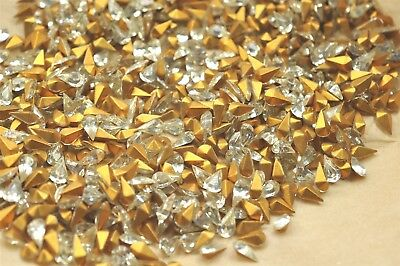 720 Vintage French 8x4mm Crystal Pear Shape Rhinestones, -V3551