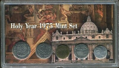 1975 Vatican Holy Year Mint Set in Plastic Holder