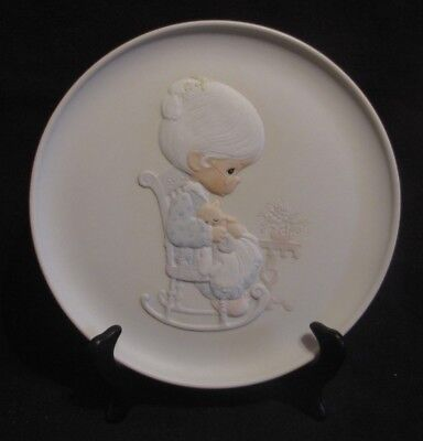 """1982 Precious Moments """" I'll Play The Drum For Him """" Christmas Collection plate"""