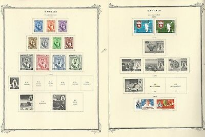 Bahrain Collection 1933 to 1977 on 20 Scott Specialty Pages