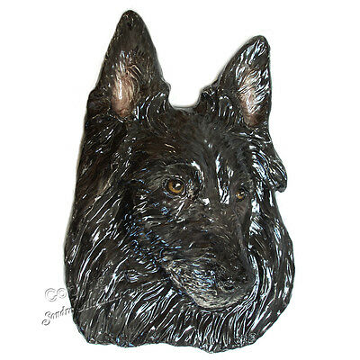 Belgian Sheepdog Pet Portrait dog Ceramic Tile Handmade 3d Alexander Art