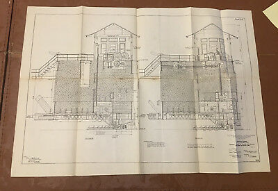 1910 Panama Canal Diagram Emergency Dams Turning & Wedging Machinery Short Arm