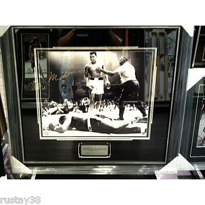 Muhammad Ali Personally Hand Signed Framed Photo Over Liston Certificate