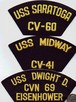 Us Navy Ship Baseball Cap/hat 1 Patch Uss Midway Cv-41 Wwii Usn Naval Carrier