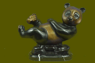 Close Out Large Panda Bronze Sculpture Home Office Cabin Decoation Deco BD