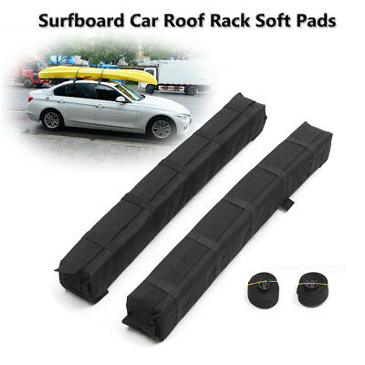 2x Universal Kayaks Surfboard Car Roof Rack Soft Pads Luggage Carrier Bar 100KG