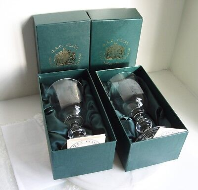 "2 Queen Alexandra College Glasses in presentation Boxes 7"" Tall"