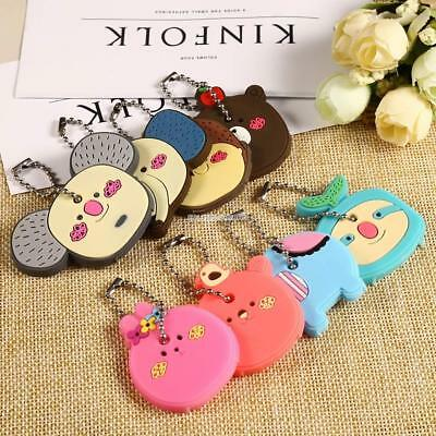 Silicone Key Ring Cap Head Cover Lovely Animals Shape Key Case Shell EN24H 06