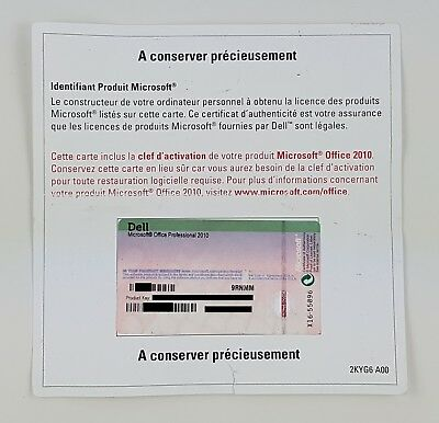 MS Office 2010 Professional Pro Vollversion PKC Französisch OEM multilingual MUI