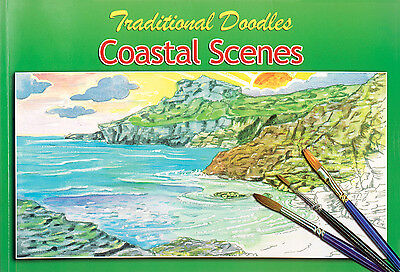 Coastal Landscapes Colouring Painting Doodle Sketch Book Children & Adults 3070