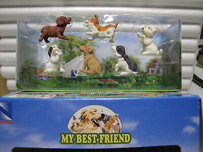 "NewRay  Set 15  ca. 1:12  Set    "" MY BEST-FRIEND ""  mit 6 Hunden  Art. 34033"