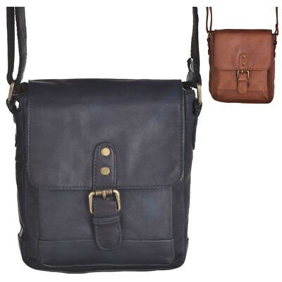 Mens Ladies High Quality Small Unisex Flap Over Shoulder Cross Body Bag Handbag