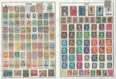 Belgium & Congo Collection 1851 to 1980 on 35 Harris Pages, Loaded Stamps