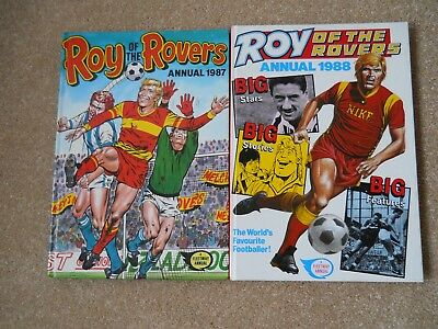 Roy Of The Rovers Annuals 87&88