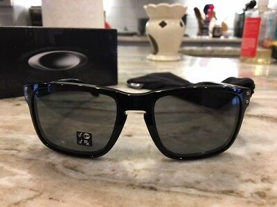 f402354caa2 OAKLEY polished black grey POLARIZED HOLBROOK OO9102-02 sunglasses! NEW IN  BOX!
