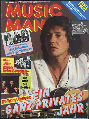 Music Man Dez. 81/Jan. 82 Steve Miller, Falco, Olivia Newton-John, Kiss, Beatles