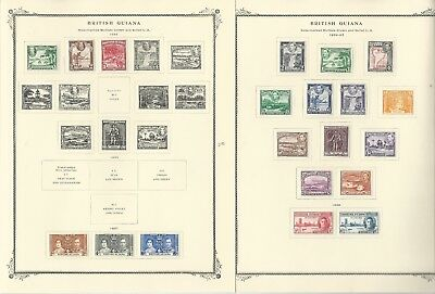 British Guiana Collection 1850 to 1966 on 15 Scott Specialty Pages
