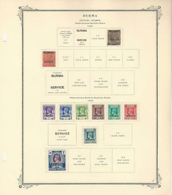 Burma Collection 1937 to 1939 on Scott Specialty Page