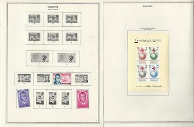 Burundi Collection 1962 to 1975 on 135 Minkus One-Sided Specialty Pages