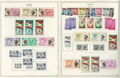 Burundi Collection 1962 to 1976 on 155 Minkus One-Sided Specialty Pages