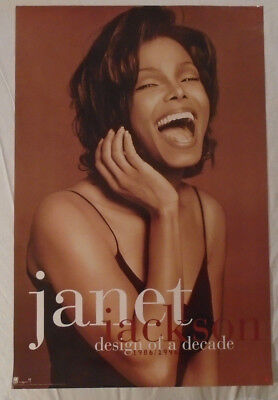 Janet Jackson 1995 Promo Poster Design Of A Decade A&M Records