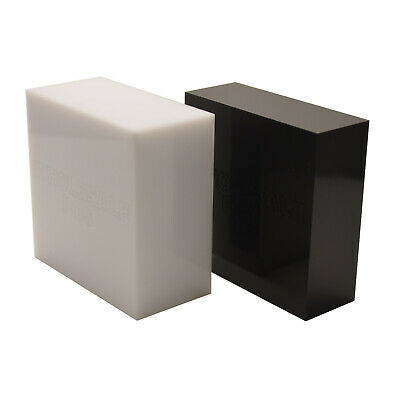 White & Black 30mm 40mm 50mm Thick Acrylic Perspex Plastic Blocks