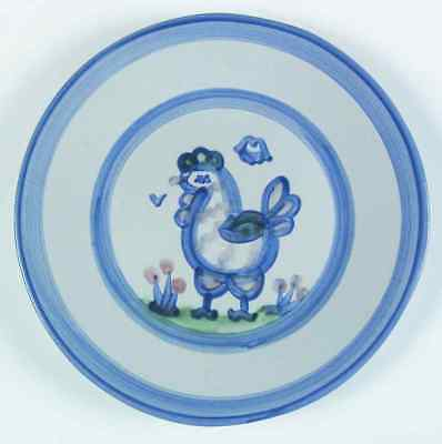 M A Hadley COUNTRY SCENE BLUE Chicken Luncheon Plate 5757471