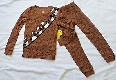 BOYS SIZE 4 or 6 CHEWBACCA STAR WARS PAJAMAS DISNEY STORE FOR KIDS NWT