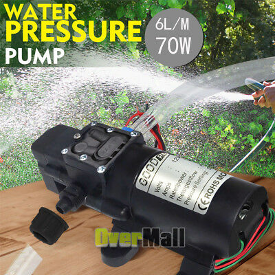 2020 NEW 12V Water Pump 130PSI Self Priming Pump Diaphragm High Pressure Auto