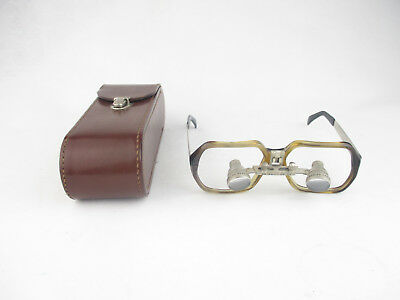 Carl Zeiss Jena Export Lupenbrille 2x magnifying spectacles mit Tasche case