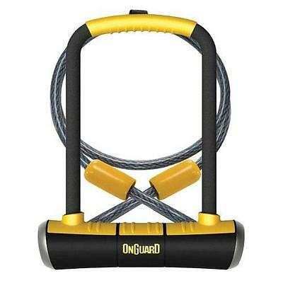 OnGuard Pitbull DT 8005 Key Shackle Bike U D Lock 115 x 230mm Sold Gold Secure