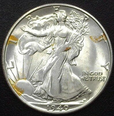1940-S Walking Liberty Silver 50 Cents  Gem Uncirculated