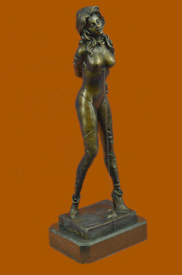 Bronze Sculpture Handcrafted Nude Lady Tied Up Museum-Quality by Preiss Figurine