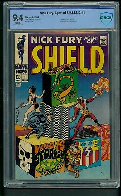 Nick Fury, Agent of SHIELD #1 (1968) CBCS Graded 9.4 ~ Jim Steranko ~ Not CGC