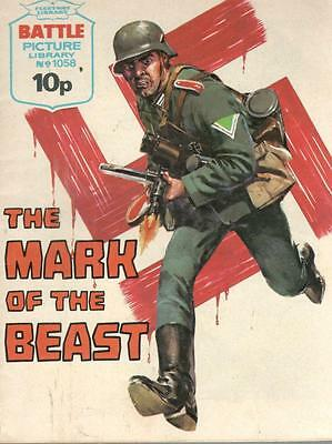 1976  No 1058  R38655 War Picture Library  THE MARK OF HE BEAST