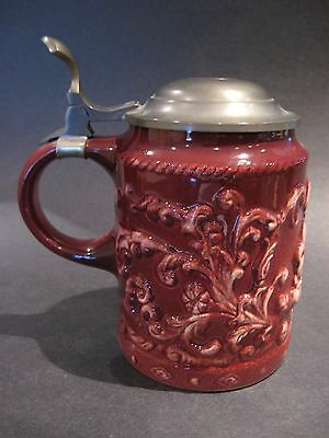 Antique Gouda Art Pottery Lidded Beer Stein Kon. Plazuid Holland Dutch Mint