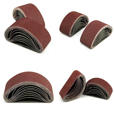20 X 75mm X 457mm Power Tool  Sander 40 60 80 120 Grit Sanding Belts Mixed Grade