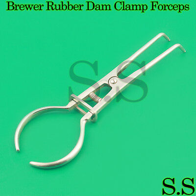12 EA Brewer Rubber Dam Clamp Forceps Dental Instruments-A+QUALTY