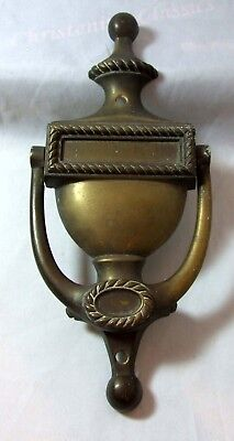 Vintage Brass Georgian Style Door Knocker - With two fixing holes - 298g  21.5cm