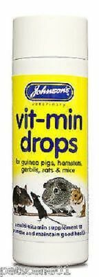 Johnsons Vit min Drops multi vitamin supplement GUINEA PIG RAT HAMSTER MICE