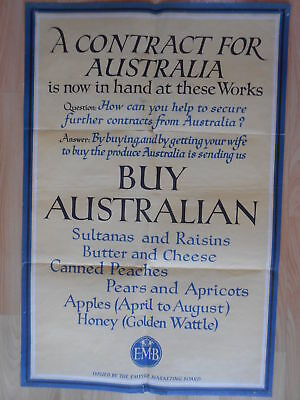 A Contract For Australia Sultanas Raisins Butter Cheese Honey Apricots WM Brown