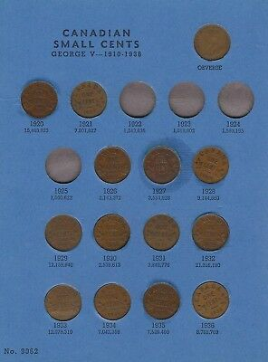 """1920-98 Set of Canadian Small Cents """"CIRC/UNC"""" *Free S/H After 1st Item*"""
